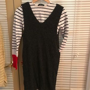 Wool blend midi dress